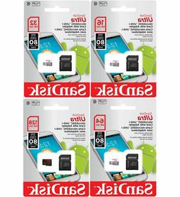 SanDisk 16GB 32GB 64GB 128GB Micro SD Card TF Class 10 Andro