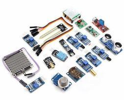 16Pcs Sensor Module Kit Laser Ultrasonic For Raspberry Pi 2