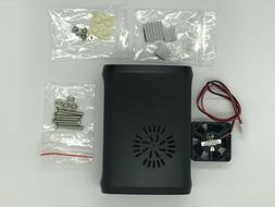 Raspberry Pi 3 Case black Model B+ Pi 2 3 2B with Fan Cooler