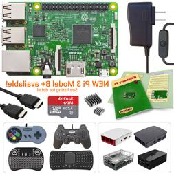 Raspberry Pi 3 Model B Starter, Complete & Ultimate Kits!