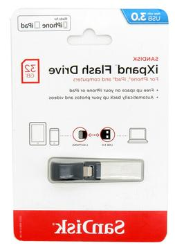 SanDisk 32GB iXpand Flash Drive with lighting connector for