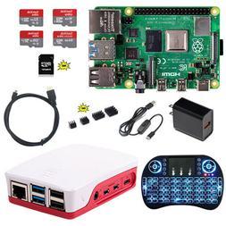 Raspberry Pi 4 B 1G 2G 4G DIY Kit Official Red/White Case