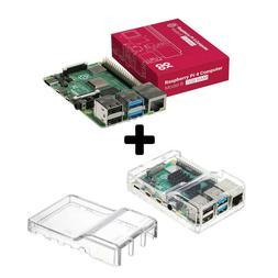 Raspberry Pi 4 Model B - 2GB RAM Transparent Case Combo-SPEC