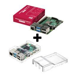 Raspberry Pi 4 Model B - 2GB RAM Transparent Case Combo