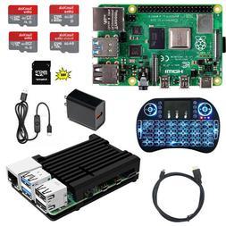 Raspberry Pi 4 Model B DIY  Kit - Metal Case NOOBS Ultra-Sil