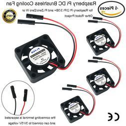 4X 5V DC Cooler Cooling Fan Heatsink For Raspberry Pi 4 2 3