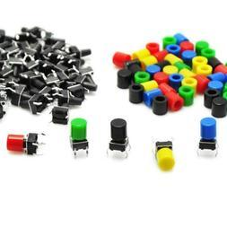 Gikfun 50Pcs 6x6x9mm Tact Tactile Push Button Momentary Micr