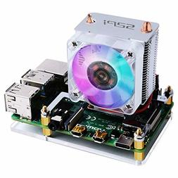 GeeekPi 52Pi ICE Tower Cooler CPU Cooling RGB LED Fan V2.0 f