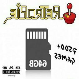 64GB SD Card RetroPie for Raspberry Pi 3B+ 7500+ Games