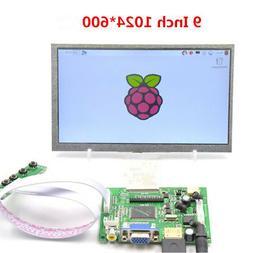 9inch LCD TFT Display 1024*600 HDMI VGA 2AV Monitor Screen K