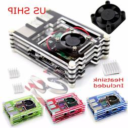 For Raspberry Pi2 PI3 and Model B+Transparent Clear Case Box
