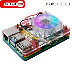 GeeekPi Acrylic Case for Raspberry Pi 4 Model B,Compatible w