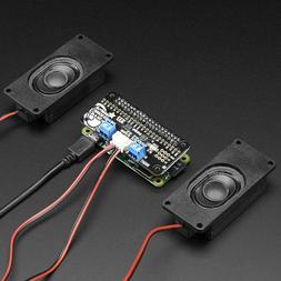 Adafruit I2S 3W Stereo Speaker Bonnet for Raspberry Pi, Mini