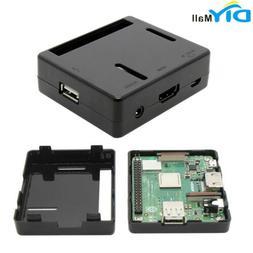 DIYmall Black Plastic ABS Case for Raspberry Pi Model 3 A+