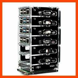C4labs Zebra Bramble Case Raspberry Pi 4B & 3B+ 6 Stack B BL