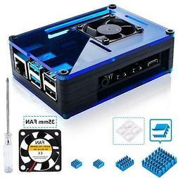 Case For Raspberry Pi 4 W LARGE Fan & � Aluminum Heat Sink