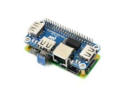 Waveshare Ethernet/USB HUB HAT for Raspberry Pi 1xRJ45 Ether