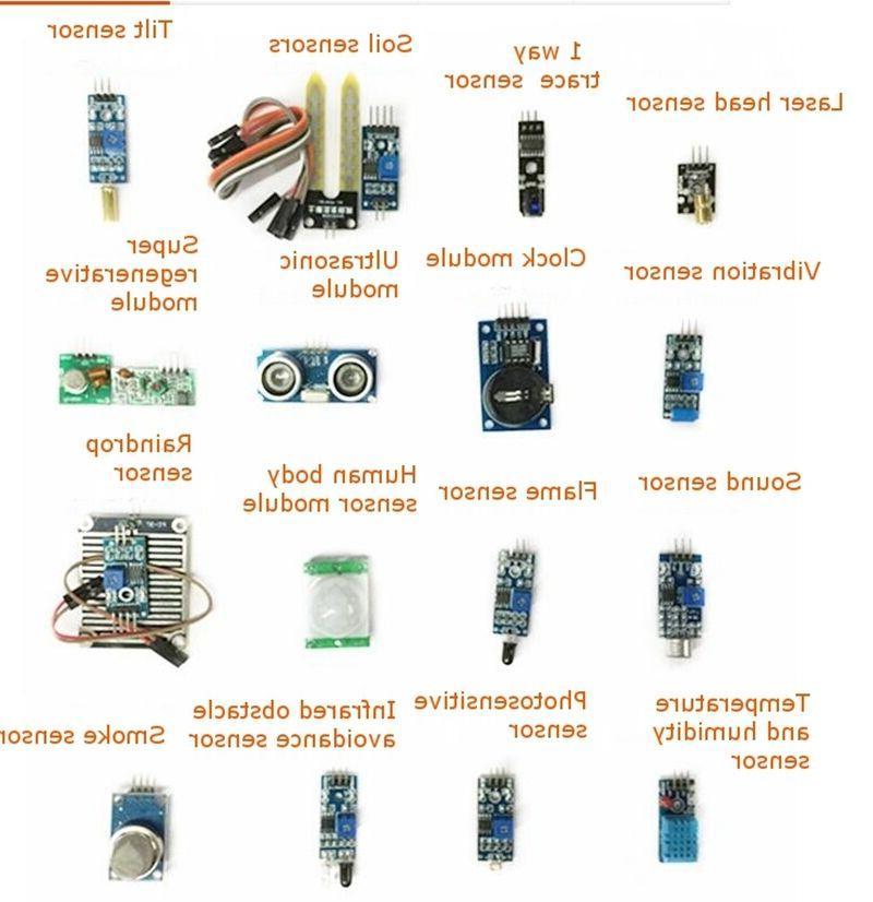 16Pcs Kit Laser Ultrasonic For Raspberry Pi Arduino