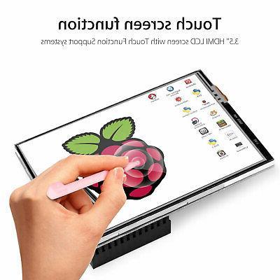"3.5"" Inch Screen Monitor For Raspberry Pi 4+ Case+ Pen"