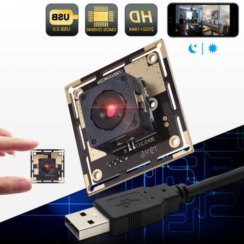 5MP Camera For Pi OV5640 Webcam w/ Autofocus Lens