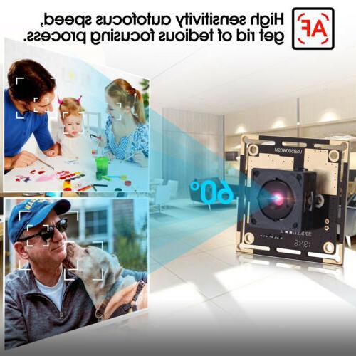 5MP Camera For Raspberry Webcam Autofocus Lens