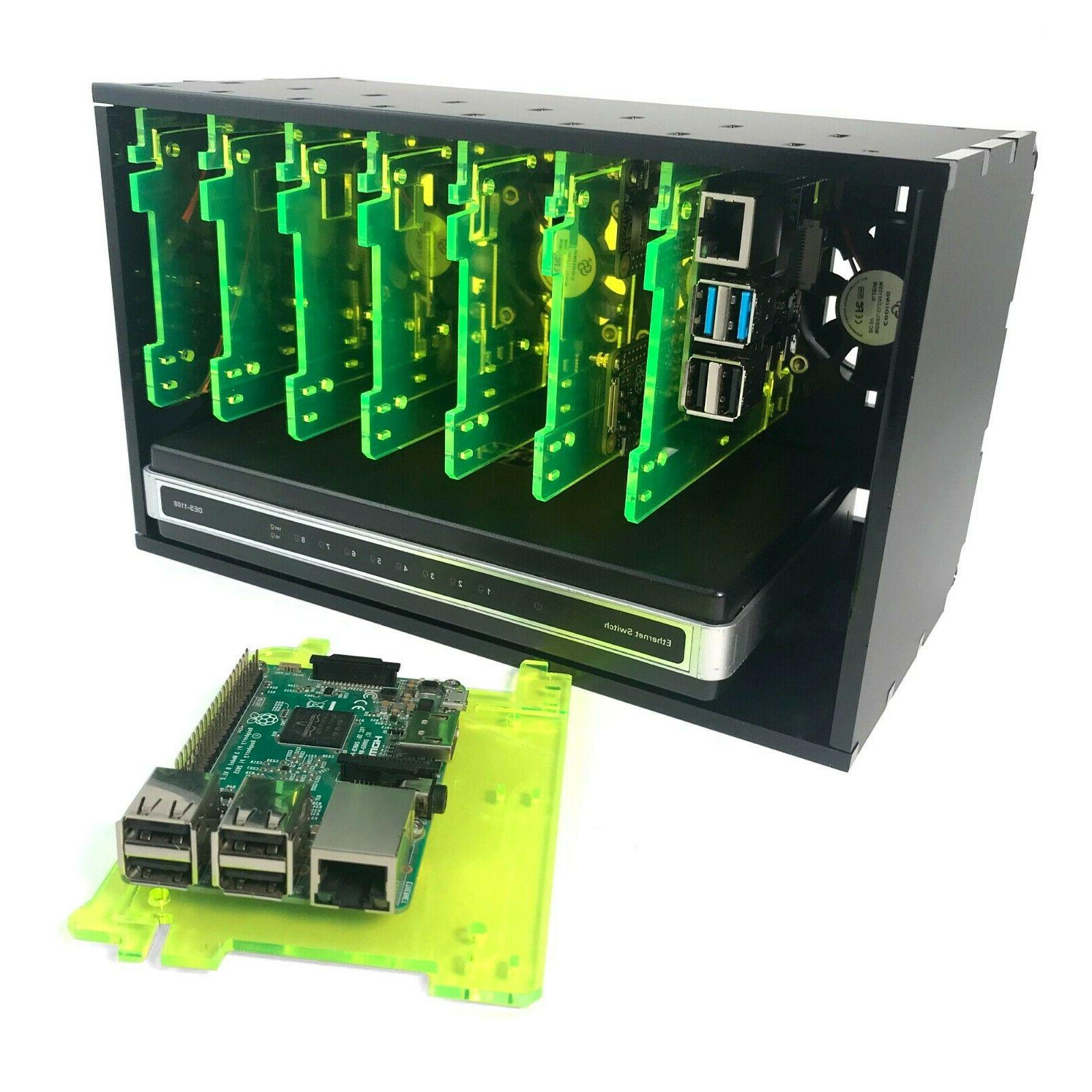 8 Slot Cluster Cloudlet:For Raspberry Pi 4B, and other single computer