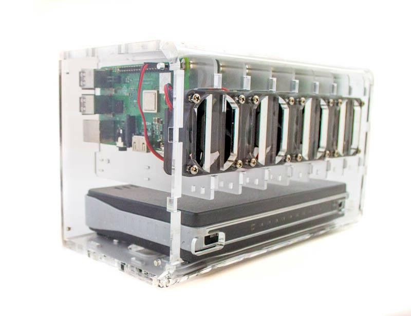 8 Slot Cluster Cloudlet:For Raspberry Pi and other board