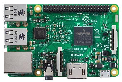 Raspberry Pi B Clear Case and Set 2 Heatsinks
