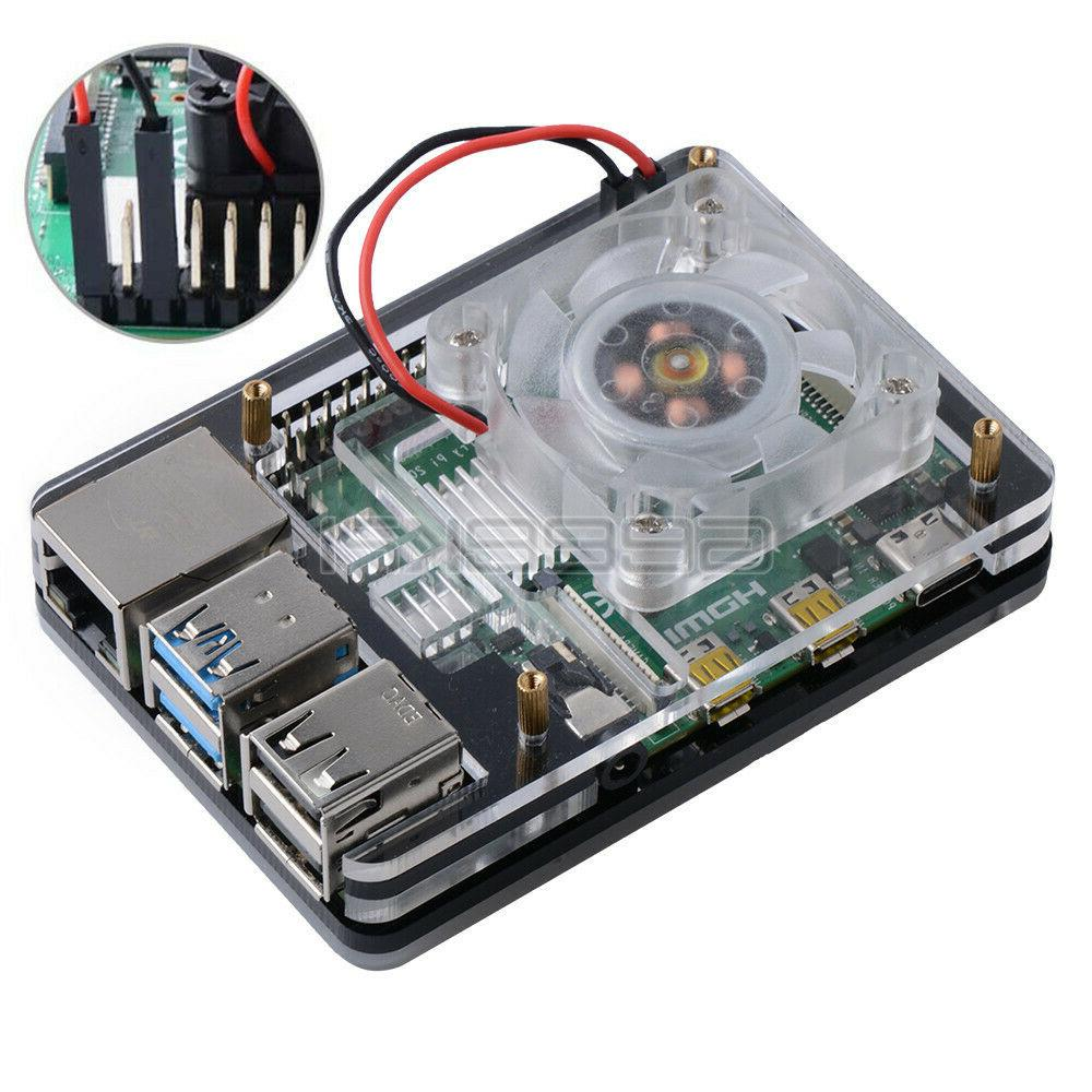 GeeekPi Acrylic for Raspberry Pi B,Compatible Fan