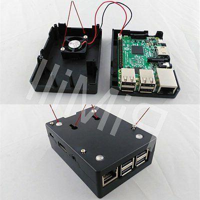 Black ABS Enclosure Box for Raspberry Pi B / B+