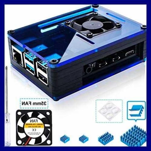 Case Raspberry 4 LARGE Fan & Sinks Model B Not