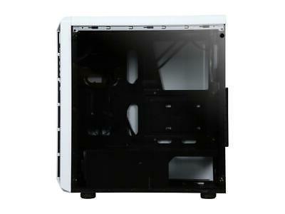 DIYPC X-W-RGB White Steel / Glass ATX Mid Case