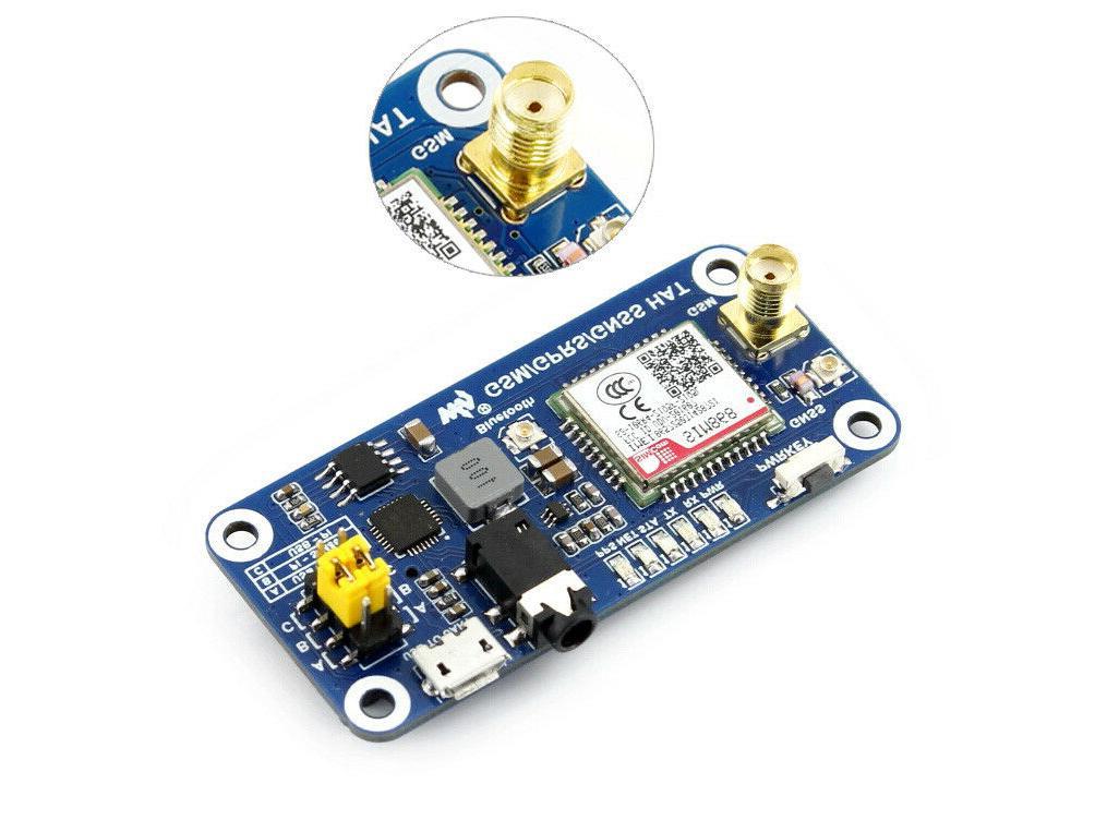 Waveshare GSM/GPRS/GNSS/Bluetooth HAT for Raspberry Pi Zero/2B/3B/3B+