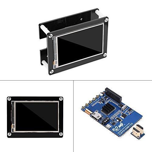fosa 3.5 LCD Screen Display for Raspberry Pi Mode Model B, B+, Pi Case