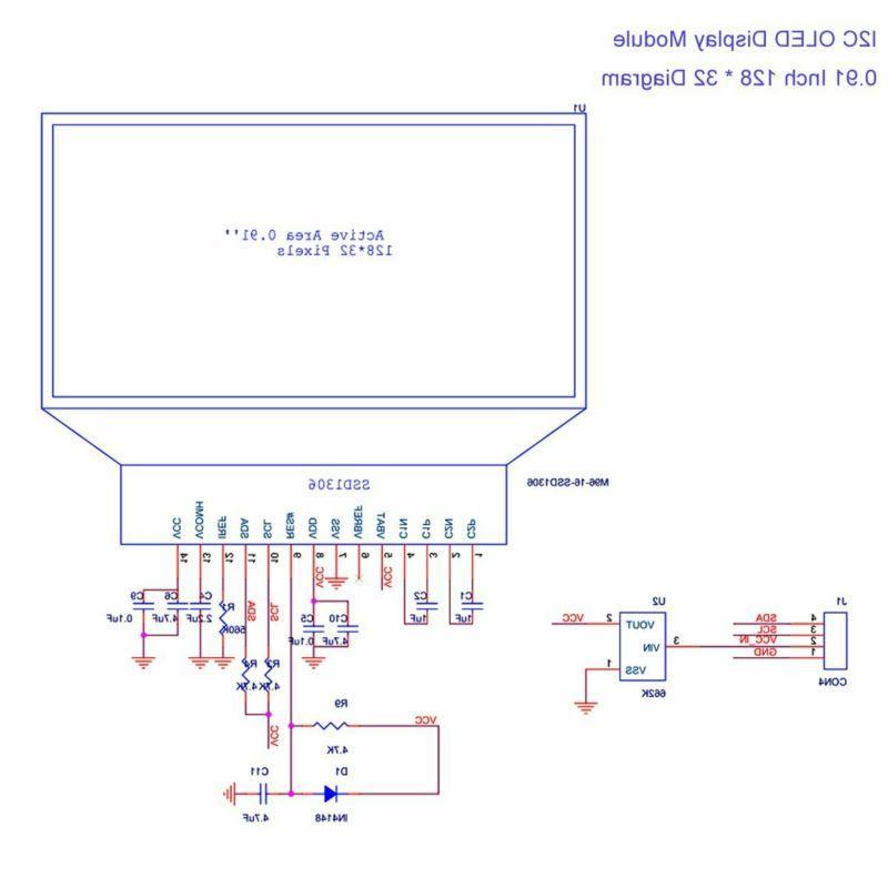 Makerfocus 2pcs I2C SSD1306 OLED DC