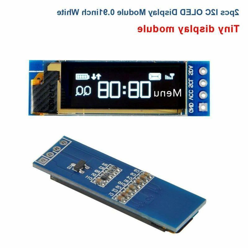 Makerfocus 2pcs I2C SSD1306 Display DC 3.3~5V for