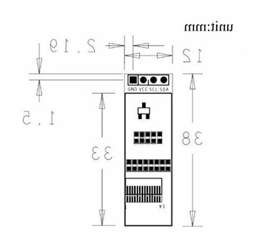 """Makerfocus 0.91"""" DC 3.3~5V for Arduino"""