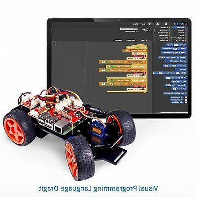 SunFounder PiCar-S Raspberry Pi 3/2/B+ Smart Robot Line Following