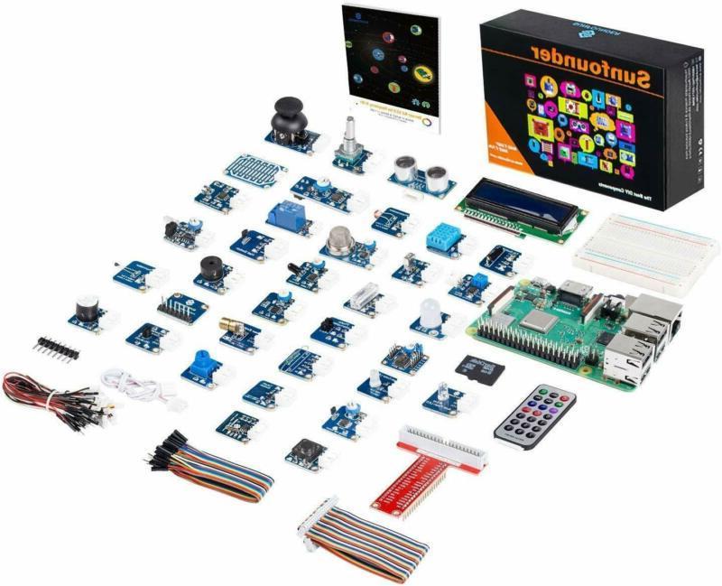 Sunfounder Raspberry Pi 3 Model B+ 37 Modules Sensor Kit V2.