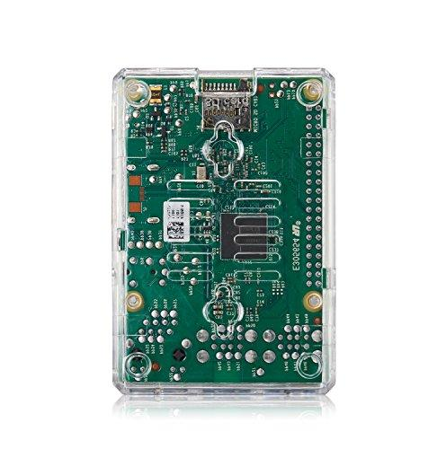 Raspberry Pi Model B Clear Case 2 Heatsinks