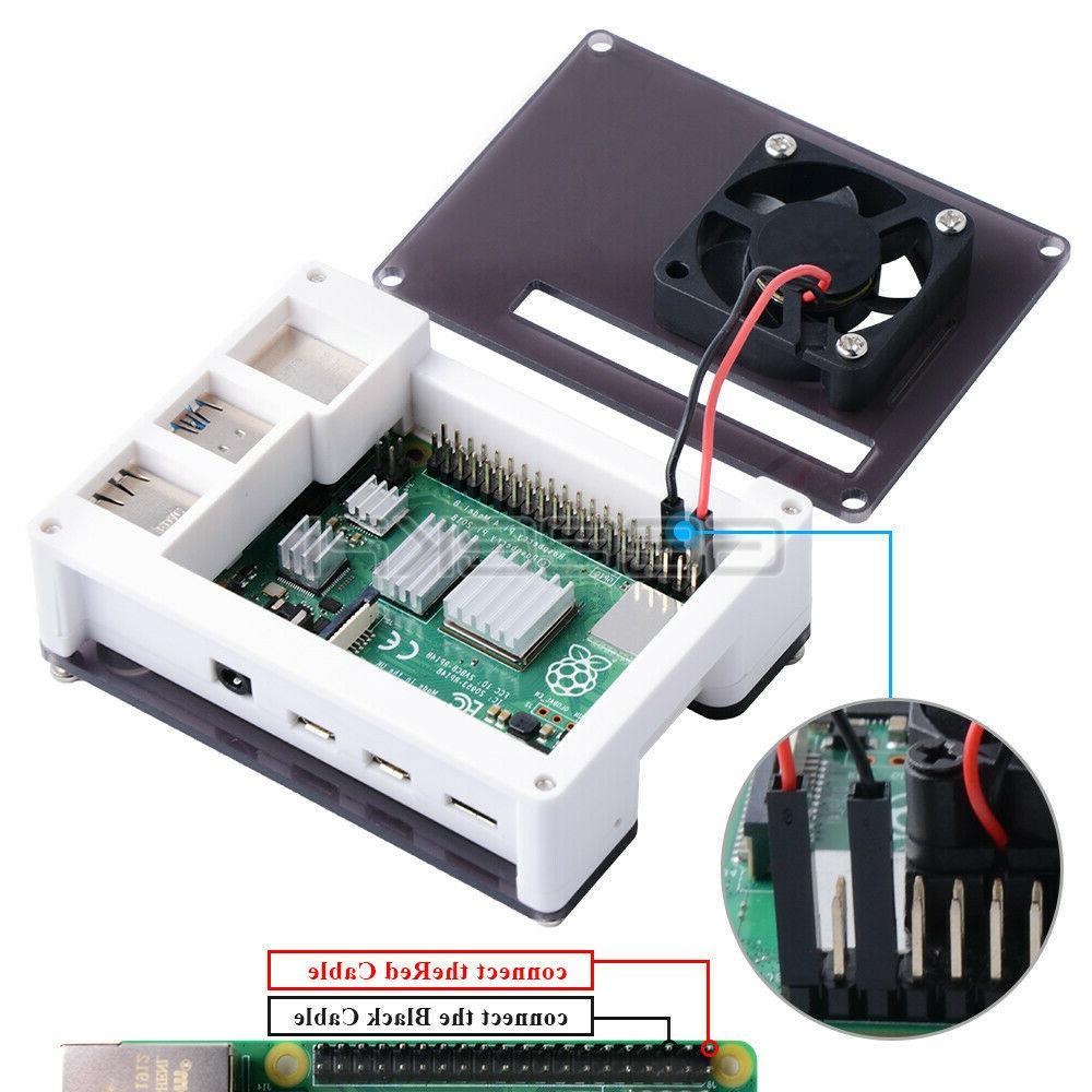 Case Acrylic Case 4010 Fan Raspberry