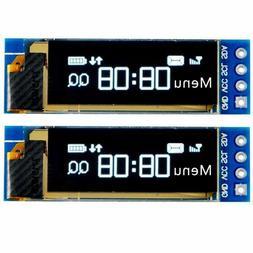 "Makerfocus 2pcs 0.91"" I2C SSD1306 OLED Display Module DC 3.3"