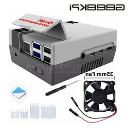 GeeekPi NES CASE for Raspberry Pi 4,Nes4pi ABS Case with Coo