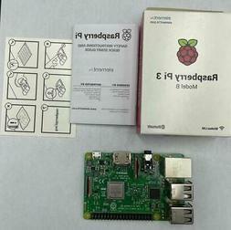 NEW Raspberry Pi 3 Model B element14 b/g/n Wireless LAN Blue