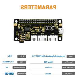 ReSpeaker 2-Mics HAT Audio decode Expansion Board for Raspbe