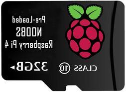 NOOBS SD Card Preloaded 32GB Rasberry Pi 3b+ 4b
