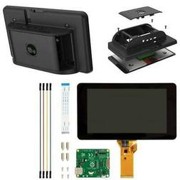 "Official Raspberry Pi 7"" Touchscreen with Pi 4 Compatible Ca"