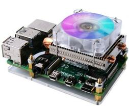 Geeekpi Raspberry Pi 3 & 4 Fan, Low-Profile Cpu Cooler With