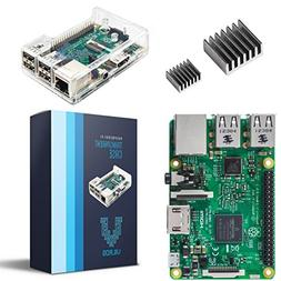 Raspberry Pi 3 Model B With Clear Transparent Case and Set o