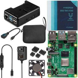 Vilros Raspberry Pi 4 Basic Kit with Black Fan Cooled Case